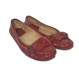 Frye Red Leather Women's Driving Moccasin Size 9M